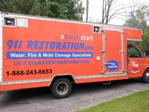 Water Damage Alameda Box Truck Restoration